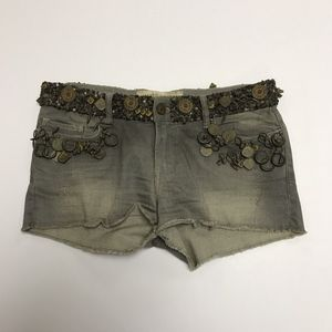 All Saints Limited Edition Embellished Bead Shorts